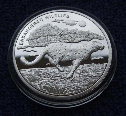 10 FRANC KONGO GEPARD 2007 ROK !!! Dzikie Zwierzęta !!! PLATEROWANE