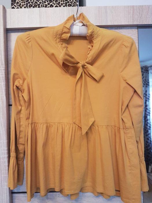 Bluzeczka w SUPER cenie 45zl,kolor żółty rozmiar 36 wuaxsna z kokardą Kraków - image 1