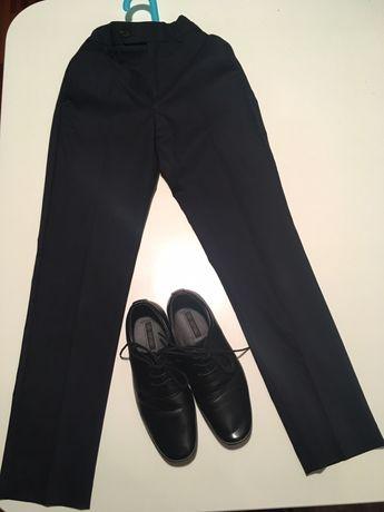 Komunijny komplet dla chłopca-spodnie i buty