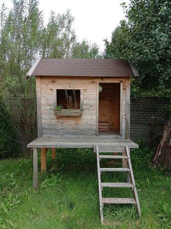 Domek dla dzieci do ogrodu do zabawy drewniany