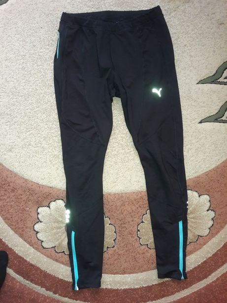 Puma czarne sportowe legginsy r. L
