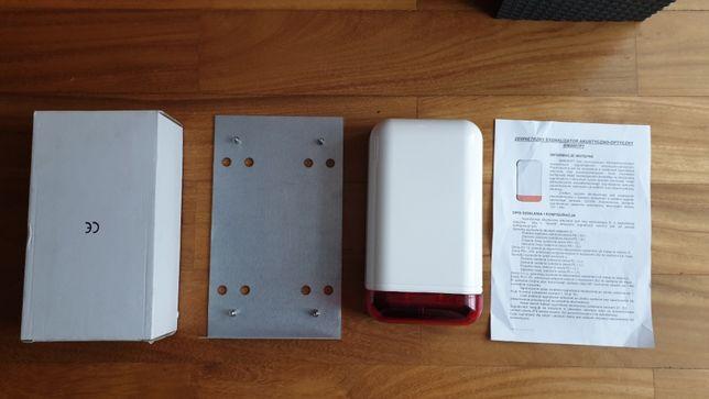 Sygnalizator alarmowy, syrena alarmowa, dźwiękowa z akumulatorem
