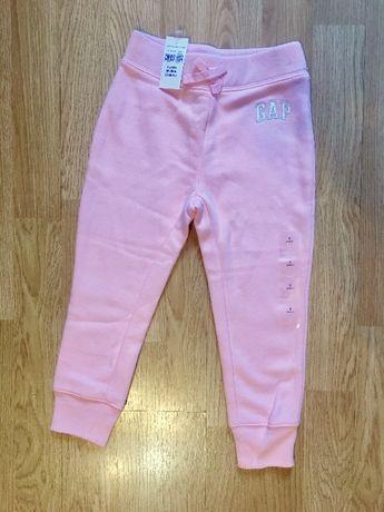 Красивые теплые штаны на флисе для девочки GAP, р. 3г, 98