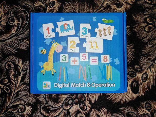 Настольная игра набор для развития ребёнка математика английский пазлы