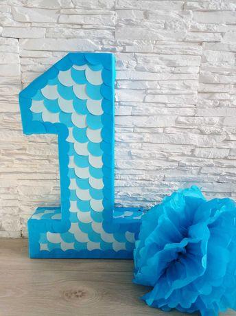 Jedynka na roczek urodziny dekoracja do sesji dla chłopca