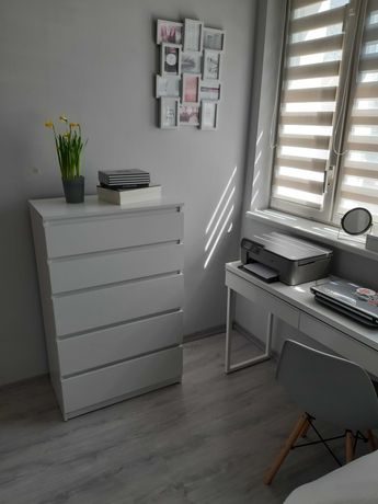 Biała duża komoda szuflady 5 szuflad jak Malm Ikea