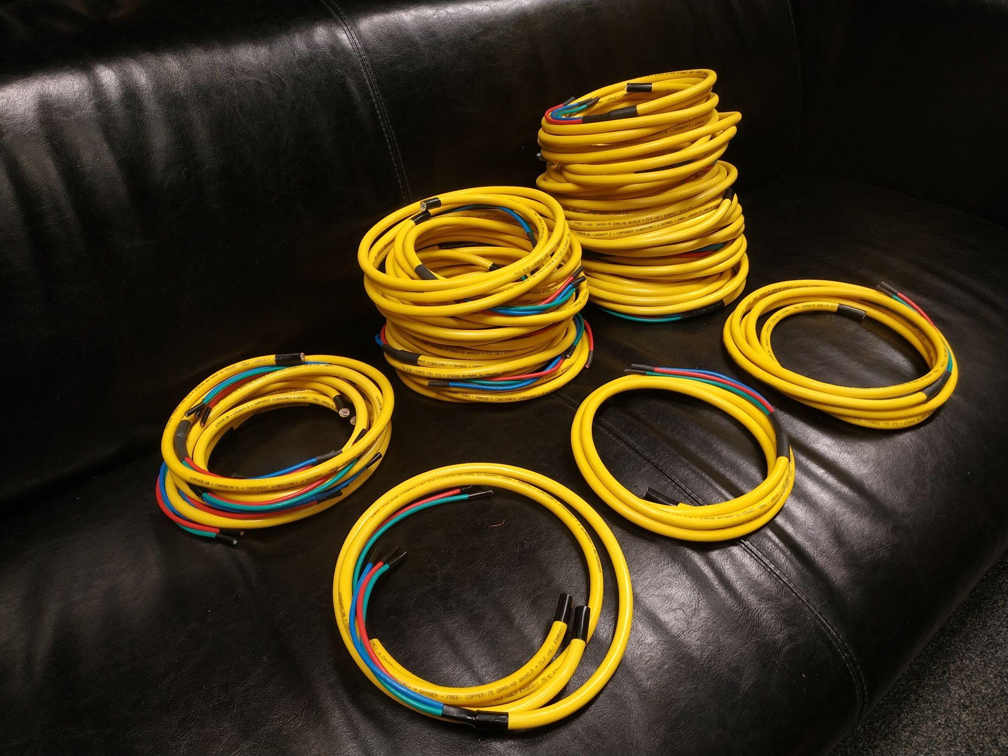 WireWorld Chroma kabel przewód sygnałowy 3 wiązki RCA XLR Coaxial