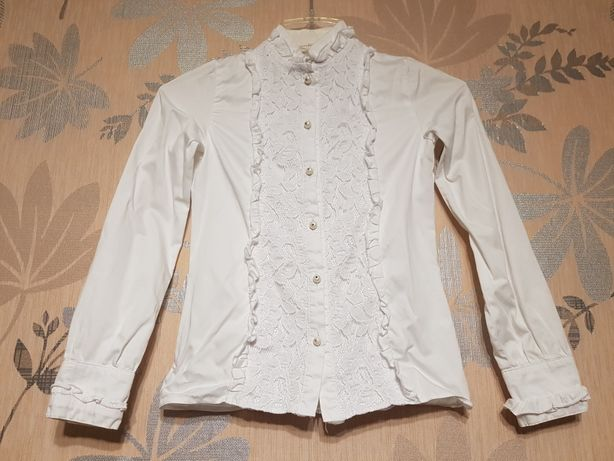 Блуза школьная Зиронька 140 см.