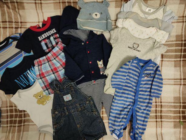 Комплект фирменной одежды для новорожденного мальчика 0-3 месяцев