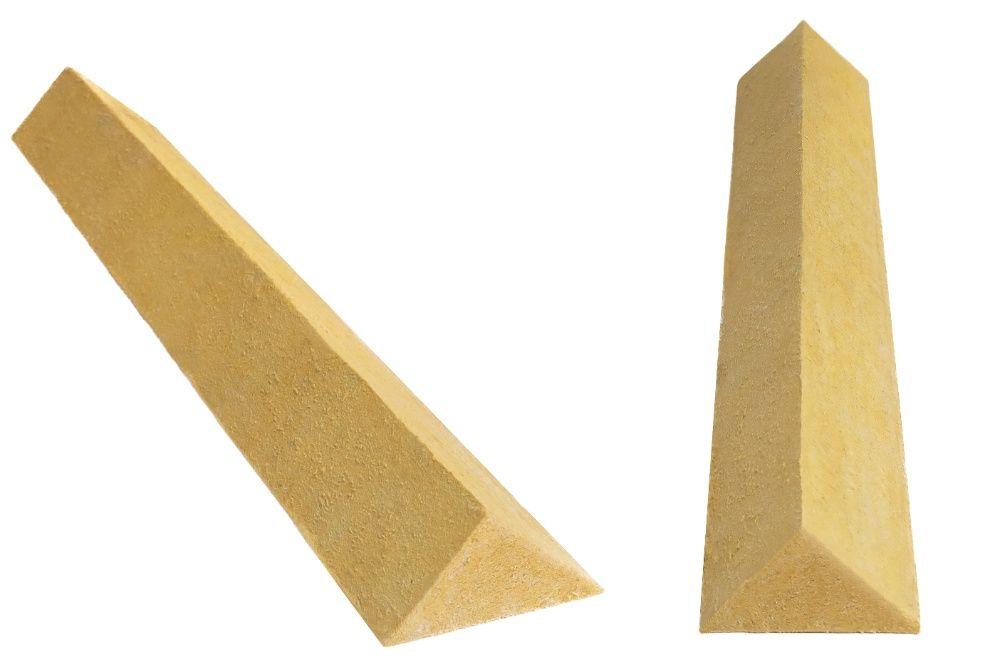 Klin dachowy z wełny mineralnej 10x10 nieoklejony