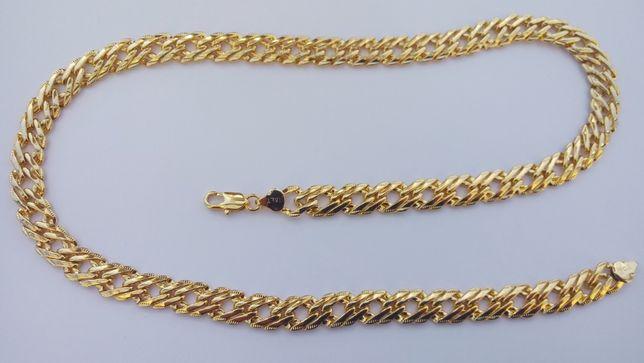 Złoty łańcuszek,pozłacany łańcuszek,LOGO, italy,18K,pr.0.750,NOWY,LATO
