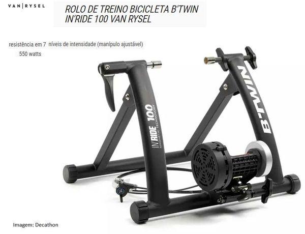 Rolo de treino B'TWIN IN'RIDE 100 VAN RYSEL + Roda Michelin 26'