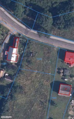 Działka w centrum miejscowości Porost gm. Bobolice