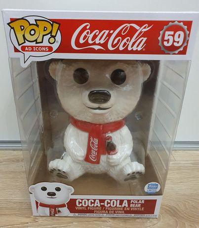 Figurka Funko Pop, Coca Cola Polar Bear, 10 cali powiększona, limited