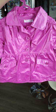 Płaszczyk różowy dla dziewczynki