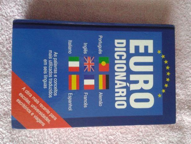 Euro Dicionário para 8000 palavras em 6 linguas