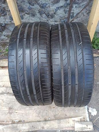 Continental 235/45r17 2 шт пара лето резина шины б/у склад