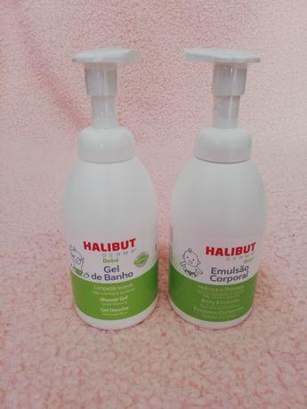 Halibut Derma gel de banho e emulsão corporal