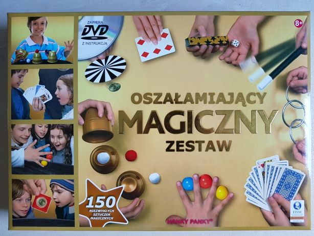 Zestaw magika Oszałamiająca Magia Złota edycja - Gra 150 sztuczek
