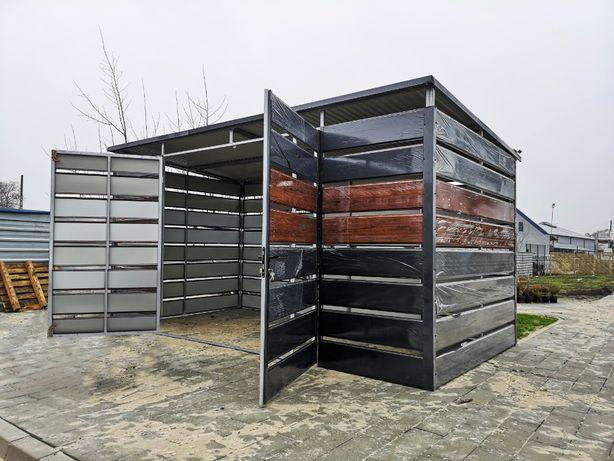 Wiata Śmietnikowa panelowa =TrashBox= śmietnik | 5x2,5 | Altana śmieci