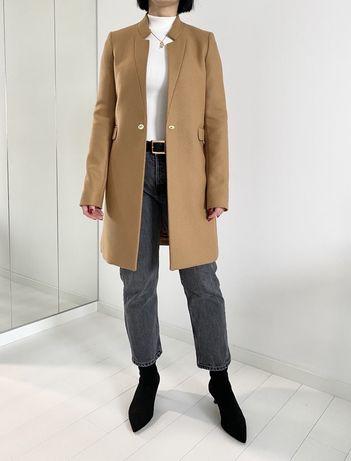 XS Massimo Dutti klasyczny płaszc beż camel
