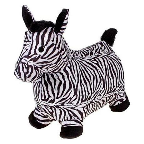 Прыгун-лошадка зебра в мягком чехле для малышей BT-RJ-0040 полосатая