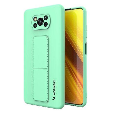Capa Silicone Traseira Wozinsky Kickstand Case Flexible Cover A Stand Xiaomi Poco X3 Nfc / Poco X3 Pro Menta