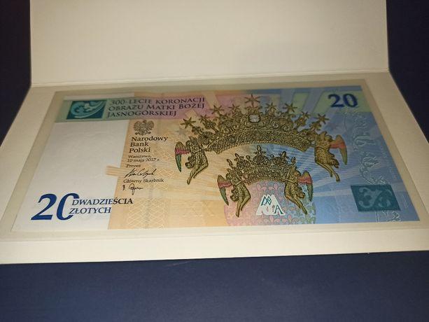 Banknot kolekcjonerski 300-lecie koronacji MB Koronacja nr 3137 folder