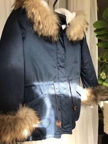 Детская крутая зимняя куртка/парка Mililook унисекс.