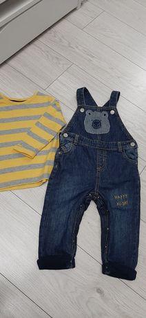 Новый детский джинсовый комбенизон (комплект)