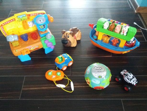 Zabawki interaktywne mega paka  kula kubusia warsztat fisher prices