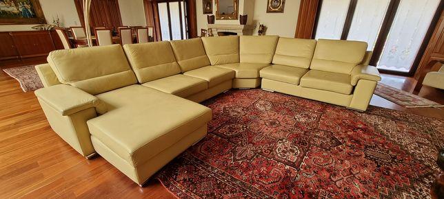 Vendo sofá em pele com chez long