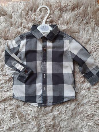 Сорочка некст, рубашка next. Рубашечка для хлопчика в клітинку 6-9 міс