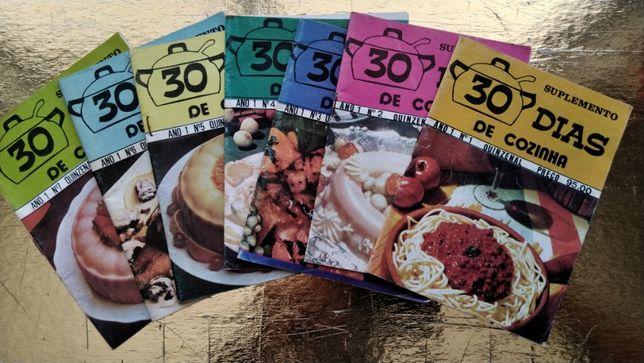 30 dias de cozinha - Numero 1 ao 8 - Portes incluídos