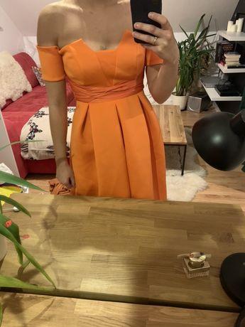 Sukienka asos pomarańczowa wesele