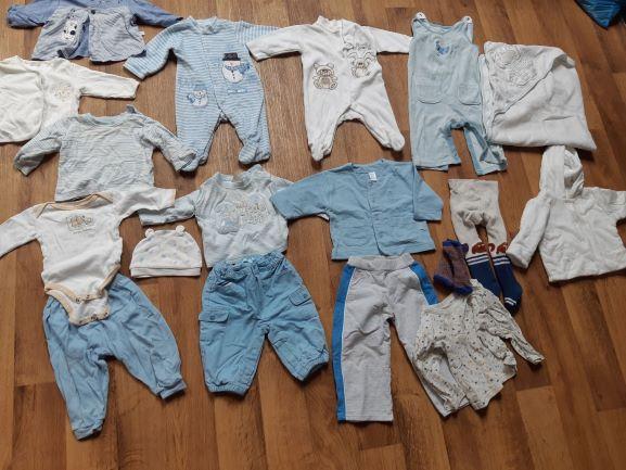 Ubranka dziecięce niemowlęce dla chłopca rozm. 62