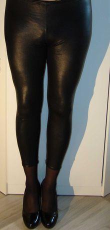 Czarne obcisłe legginsy getry leginsy sexy S/M
