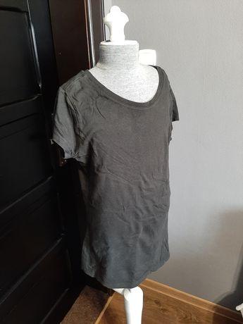 Bluzka z krótkim rękawem, czarna, M/L