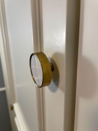 Uchwyty Zara Home srebrne lub złote wypełnienie biały marmur