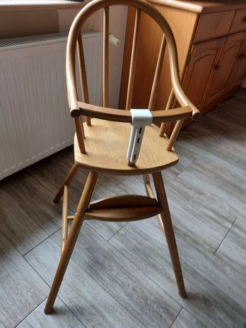 Drewniane krzesełko do karmienia Ikea