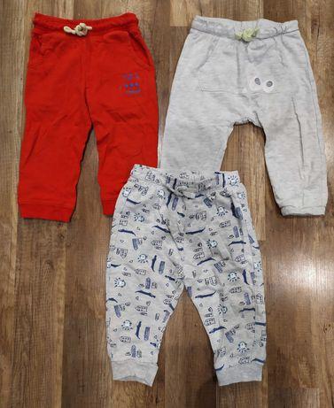 3 pary spodni dresowych chłopięcych r. 86