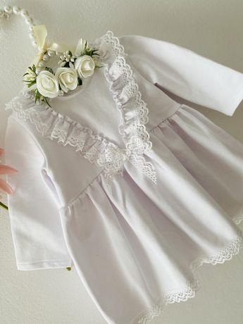 Sukienka z opaską na Chrzest