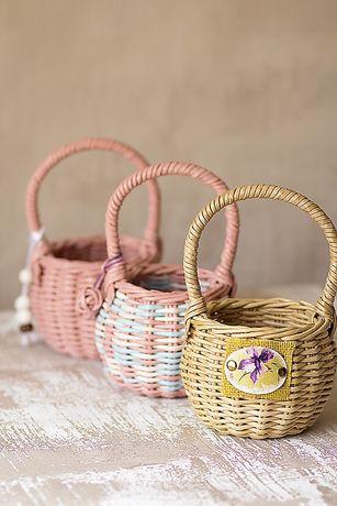 Плетеные корзинки/корзины из бумажной лозы/бумаги