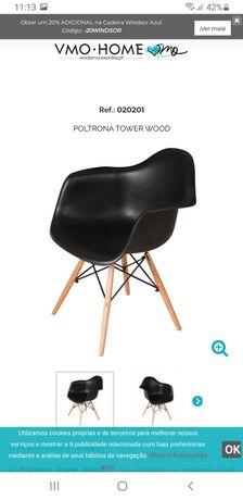 Cadeiras DSW com braços