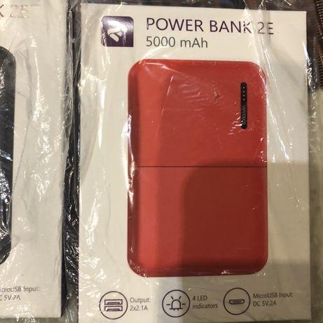 Портативный аккумулятор 2Е 5000mAh Black/Red Новый, запечатан