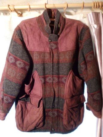 Мужская куртка, шерсть с натуральным замшем