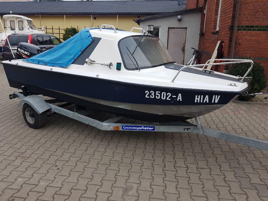 łódź kabinowa motorowa łódka wędkarska 3 kilowa 4,5m suzuki 40KM