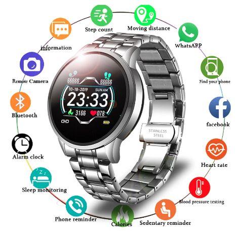 Smartwatch Lige . Metal . Cor Cinza e Preto. 2021