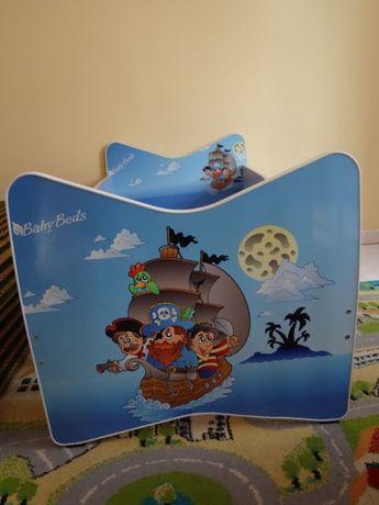 Łóżko dziecięce, tapczan dziecięcy z szufladą 140x70 cm Kevin piraci