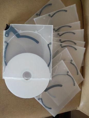Lote 15 caixas capas cd dvd NOVAS slim transparente com ejector